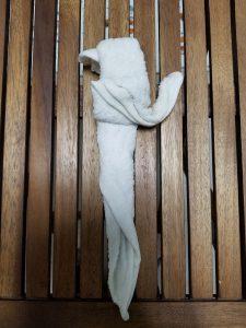 おしぼりアート 4、体を作る